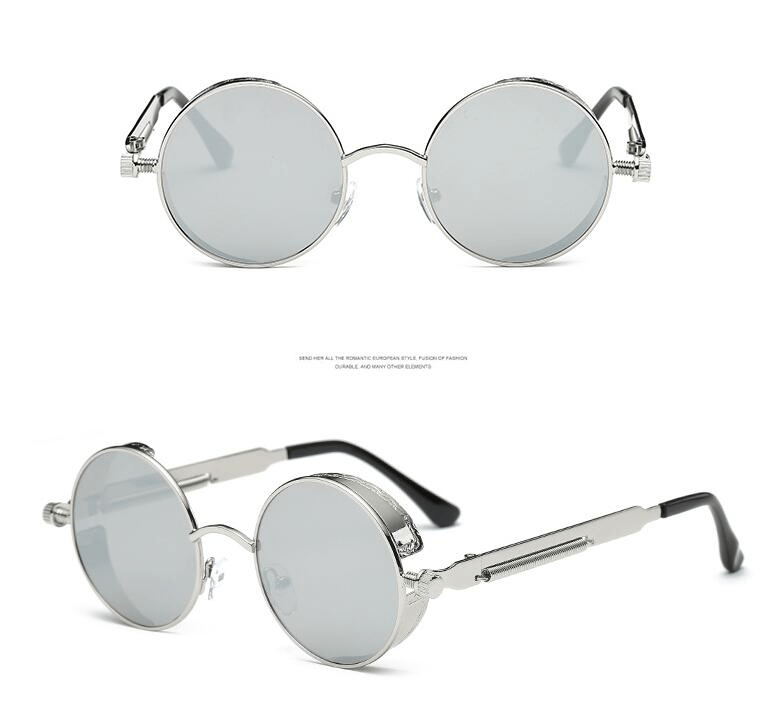 Round Metal Frame Sunglasses - Sunglasses