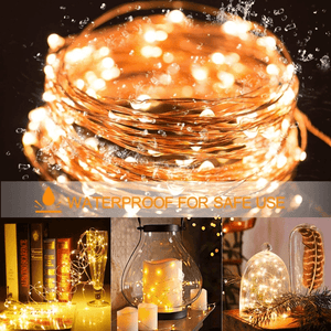 Fairy Lights String Lights For Indoors Outdoors Christmas Decoration (3 Types: USB, AA Battery and CR2032 Battery)