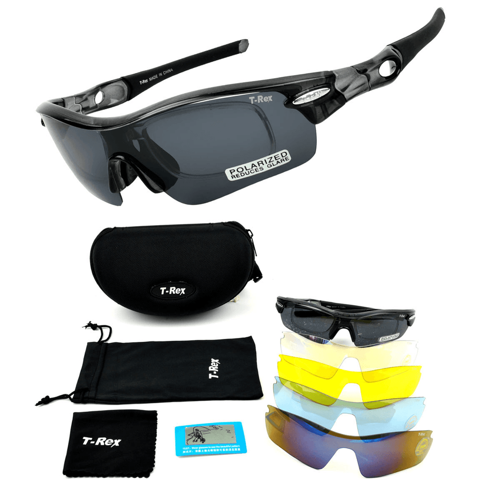 Outdoor Sports Sunglasses 5 Replaceable Film - Sports & Outdoors / Cycling / Cycling Eyewear