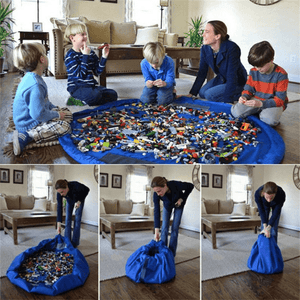 Waterproof Toy Clean-up and Storage Container Play Mat - Toys, Kids & Baby / Toys & Hobbies / Action & Toy Figures