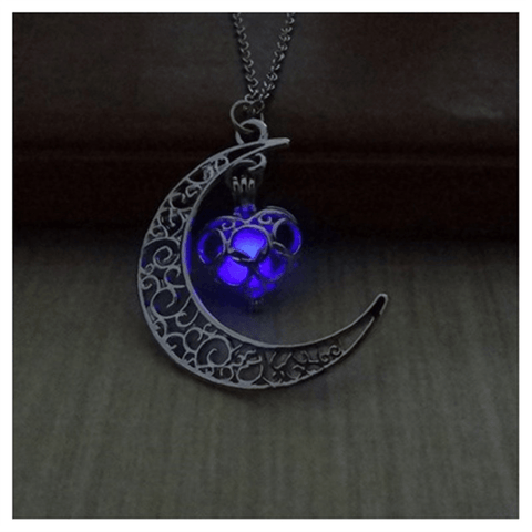 Image of Glowing Moon Necklace Glow In The Dark Pendant - Jewelry & Watches / Fashion Jewelry / Charms