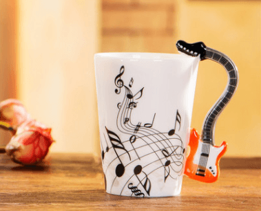 3D Clefs & Notes Guitar Mug - Home & Garden, Furniture/Kitchen, Dining & Bar/Drinkware