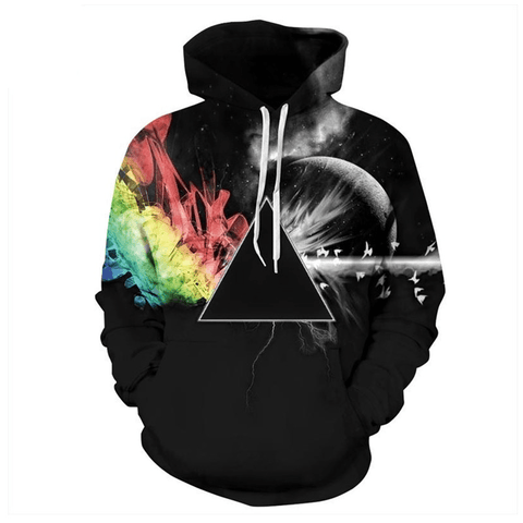 Graphic Hoodies Men Women Graphic Hoodie Sun Refraction 3D Printed Hoodies - Men's Clothing / Outerwear & Jackets / Hoodies & Sweatshirts