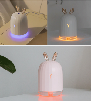Mini Desktop LED Fog Humidifier With USB And Deer Antlers Aromatheraphy