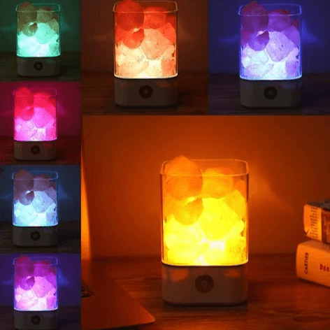 USB Crystal Light Himalayan Salt LED Lamp - Computer & Office / Office Electronics / Office & School Supplies