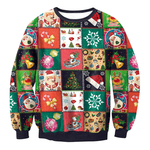 Image of Ugly Christmas Sweater For Men Women - Women's Clothing / Tops & Sets / Hoodies & Sweatshirts