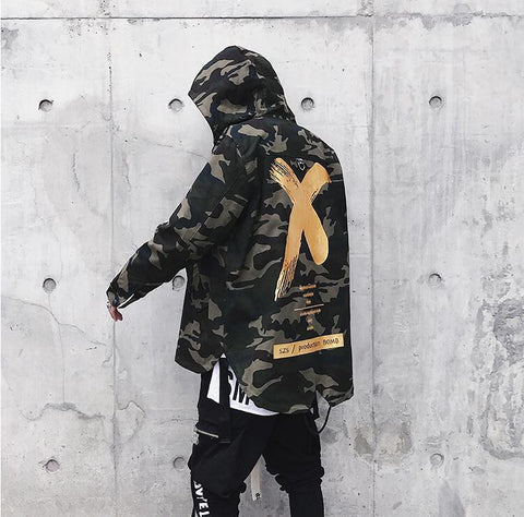 Image of Fashionable Coat X Jacket Camouflage Color With Hoodie For Men - Men's Clothing / Outerwear & Jackets / Hoodies & Sweatshirts