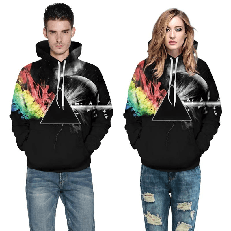 5be03a24e Tap to expand · Graphic Hoodies Men Women Graphic Hoodie Sun Refraction 3D  ...