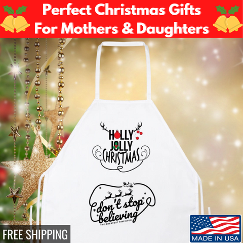 Image of 🎄 Holly Jolly Christmas Apron Gift For Your Loved One 🎁
