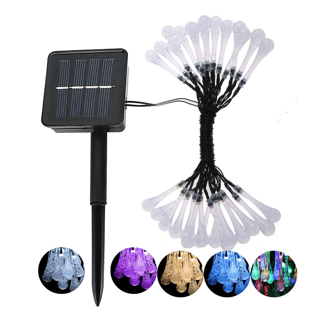 Solar Fairy Lights LED Water Drop Solar Operated Fairy Lights - Home Improvement / Outdoor Lighting / Solar Lamps