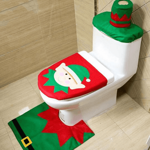 Image of Christmas Toilet Seat Cover - Home & Garden, Furniture/Home Storage/Bathroom Storage