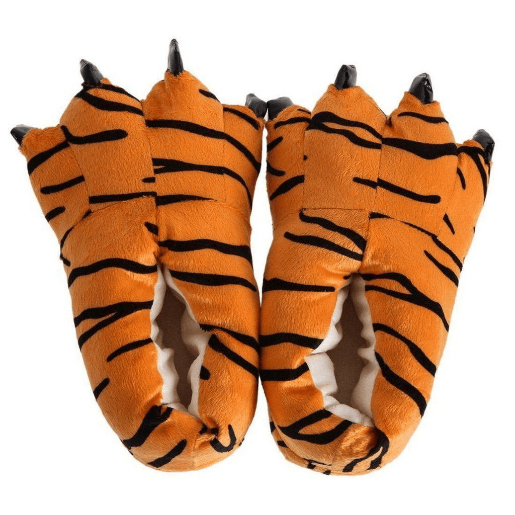 Winter Soft Warm Dinosaur Paw Funny Slippers - Apparel