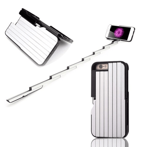 Image of Self-timer Retractable Aluminum Selfie-stick Phone Case - Phones & Accessories / Cases & Covers / Patterned Cases