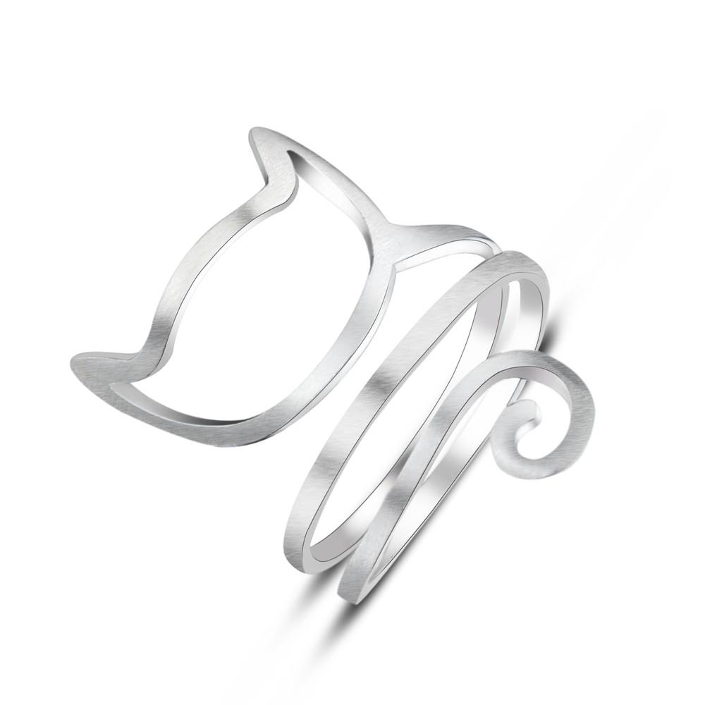 Sterling Silver Cute Cat Ring - Jewelry & Watches / Fashion Jewelry / Rings