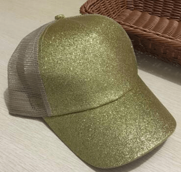 Image of Glitter Ponytail Cap Baseball Caps For Women - Women's Clothing / Accessories / Hats & Caps