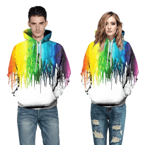 Graphic Hoodies 3D Printed Graphic Hoodies Colorful Splash Painting for Men And Women - Men's Clothing / Outerwear & Jackets / Hoodies & Sweatshirts