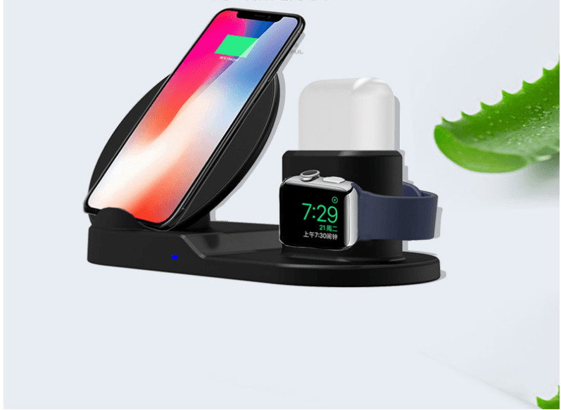 3-in-1 Universal Wireless Charger For Android & iPhone | All In One Phone, Smart Watch & Airpod Charger - Chargers