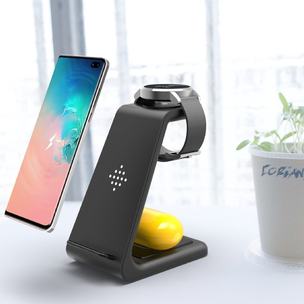 New 3-in-1 Wireless Stand Charger for Android/Apple Phones, Watches And Earbuds