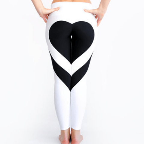 Image of Pretty Love Art Yoga Pants Gym Leggings Sportswear For Women - Women's Clothing/Bottoms/Leggings