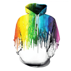 Graphic Hoodies 3D Printed Graphic Hoodies Colorful Splash Painting for Men And Women