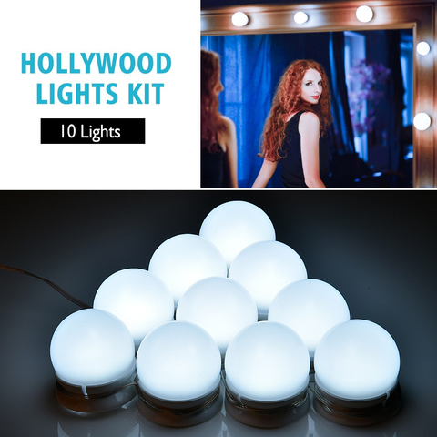 Image of Hollywood USB Beauty Light Blub Set - Health & Beauty, Hair / Makeup / Makeup Set