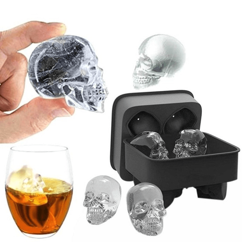 3D Skull Ice Cubes Molds - Home & Garden, Furniture / Kitchen, Dining & Bar / Drinkware