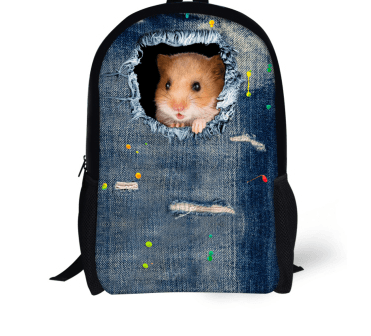 3D Cat Dog Print Backpacks For School - Bag & Shoes / Women's Luggage & Bags / Children's Bags