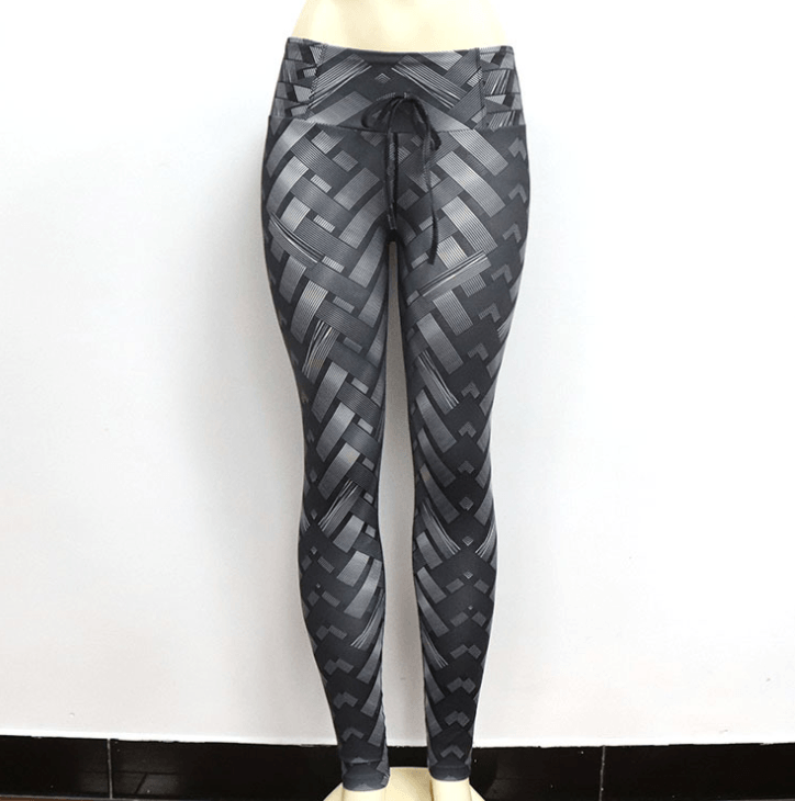 High Waist Iron Armor Weave Print Push Up Yoga Pants Workout Leggings For Women - Women's Clothing/Bottoms/Leggings