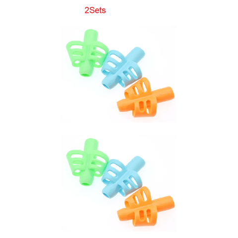 3 Pieces Set Two-Finger Grip Silicone Baby Learning Writing Tool - Toys, Kids & Baby / Toys & Hobbies / Action & Toy Figures