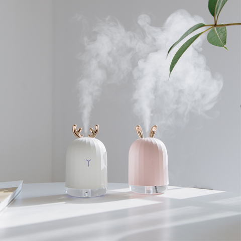 Mini Desktop Fog Humidifier With USB And Deer Antlers - Consumer Electronics / Smart Electronics / Smart Home Appliances