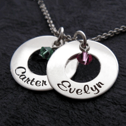 Image of Personalized Stainless Steel Necklace With Custom Words - Jewelry & Watches / Fashion Jewelry / Earrings