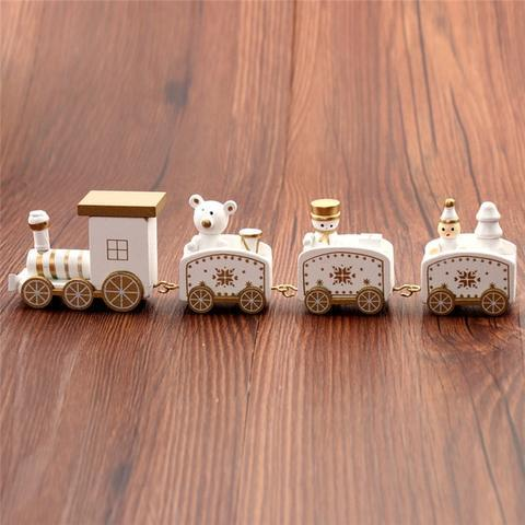 4 Pieces Mini Wood Train Christmas Toys For Kids - Toys, Kids & Baby / Toys & Hobbies / Action & Toy Figures
