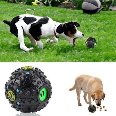 Squeaky Dog Balls Dog Treat Ball With Dispenser - Home & Garden, Furniture / Pet Products / Dog Supplies
