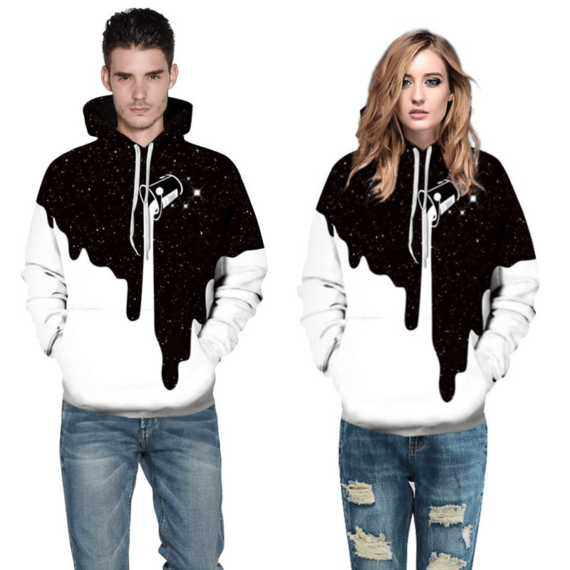 Graphic Hoodies Pullover Hoodies Spill Milk 3D Printed Hoodies For Men & Women - Men's Clothing / Outerwear & Jackets / Hoodies & Sweatshirts