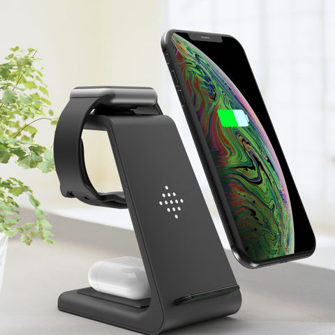 Image of New 3-in-1 Wireless Stand Charger for Android/Apple Phones, Watches And Earbuds