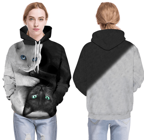 Cat Hoodie | Cat Print Hoodie | 3D Cat Print Hoodies For Men And Women - Men's Clothing / Outerwear & Jackets / Hoodies & Sweatshirts