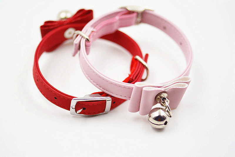 Cat Bow Tie Collar Jingle Bell Collar - Home & Garden, Furniture / Pet Products / Dog Supplies