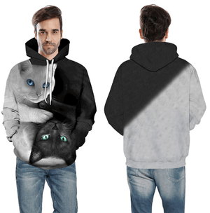Cat Hoodie | Cat Print Hoodie | 3D Cat Print Hoodies For Men And Women
