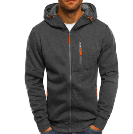 Image of New Cotton Hoodie Jacket For Men - Men's Clothing / Outerwear & Jackets / Hoodies & Sweatshirts