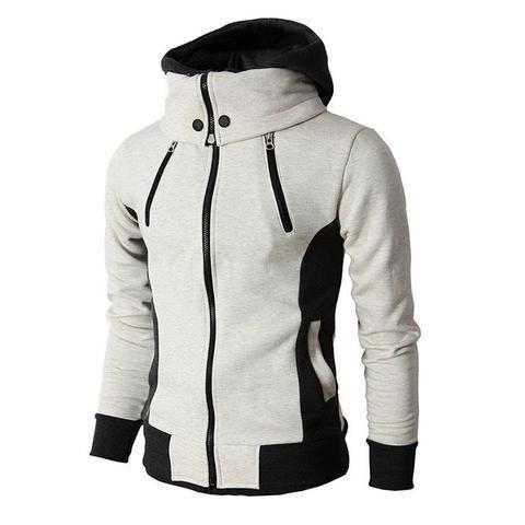 Image of Men's High-Necked Hooded Jacket - Men's Clothing / Outerwear & Jackets / Hoodies & Sweatshirts