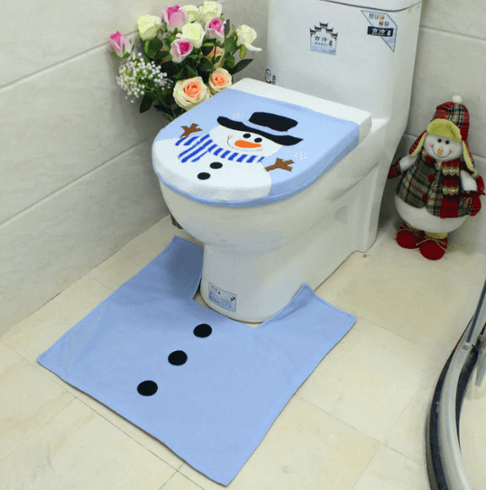 Christmas Toilet Seat Cover - Home & Garden, Furniture/Home Storage/Bathroom Storage