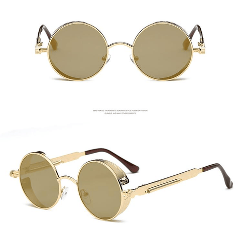 Image of Round Metal Frame Sunglasses - Sunglasses