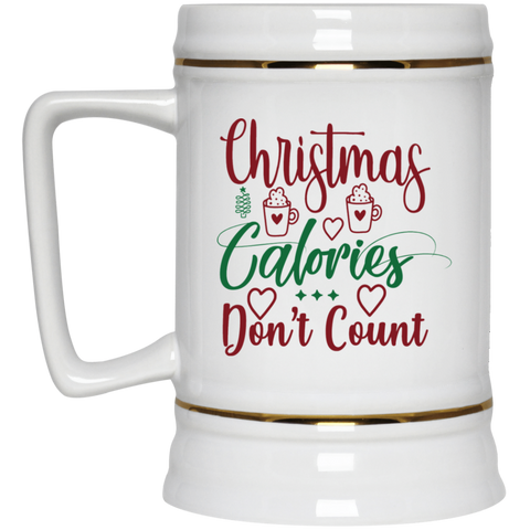 Christmas Calories Don't Count Beer Stein 22oz.