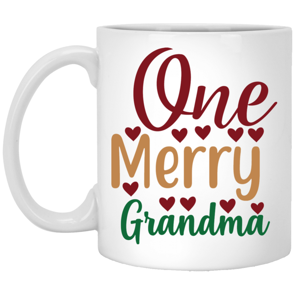 One Merry Grandma White Mug 11 oz.