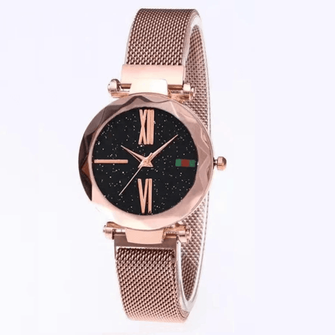 Image of Mesh Magnet Buckle Quartz Wristwatch For Women - Jewelry & Watches / Fashion Jewelry / Bracelets & Bangles