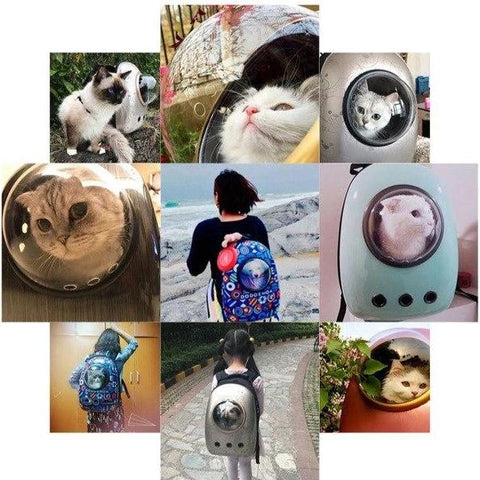 Pet Cat Dog Backpack Carrier Breathable Astronaut Travel Bag - Home & Garden, Furniture / Pet Products / Cat Supplies