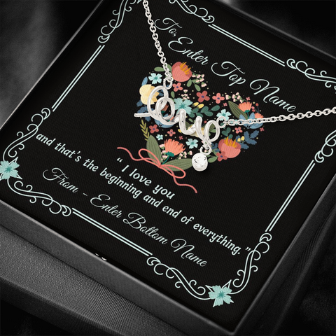 "💎 Scripted Love Necklace With Personalized Message Card ""I Love You"""