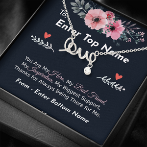"💎 Scripted Love Necklace With Personalized Message Card ""You Are My Hero"""