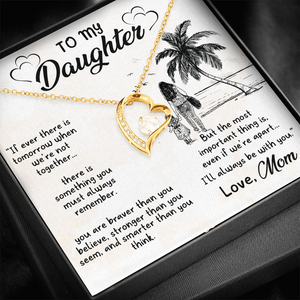 💎 To My Daughter Necklace, Gifts for Daughter from Mom - Forever Love Necklace With