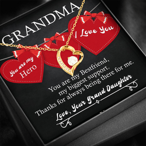 💎 To My Grandma Necklace, Gifts for Grandma 👵 from Grand Daughter - Forever Love Necklace With